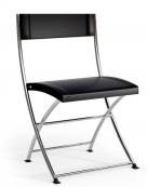 skládací plastová židle Luk Fold černá