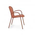 kovové židle s područkami XS