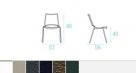 zahradní židle Ala rozměr