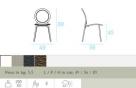 zahradní židle Antonietta rozměr