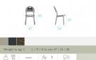 zahradní židle Coupole rozměr