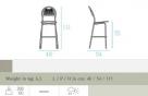 zahradní barová židle Coupole 1