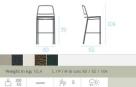 zahradní barová židle Eclipse td