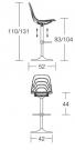 barová židle Coupe rozměr