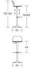 barová židle Pampa.sh rozměr