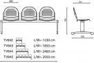 lavice do čekárny ST 501 rozměr