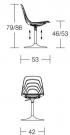 židle Coupe´.5 cu rozměr