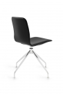 Bebo 6 up chrome bend leather black 3_4 back view
