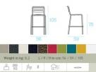 zahradní barová židle STAR_td
