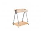 stohovatelné stoly do učeben a školících místností