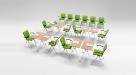 stohovatelné stoly do učeben