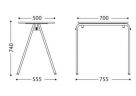 stohovatelný stolek do učebny_rozměr