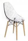 designová židle Glamour wood