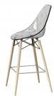 designové barové židle Glamour wood