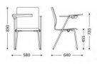 konferenční židle se sklopným psacím stolkem_td