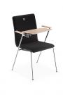 židle se sklopným psacím stolkem