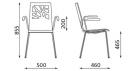 židle do kavárny_rozměr