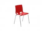 červená židle do kavárny