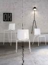 platové židle do kavárny bílé