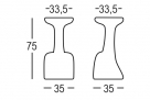 barová židle Armillaria_rozměr