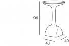 venkovní barový stůl Armillia_rozměr