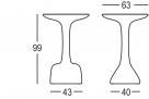 venkovní barový stůl_rozměr
