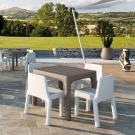 designové plastové stoly a židle simple