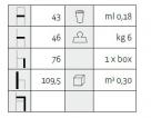barová židle Croce rozměry